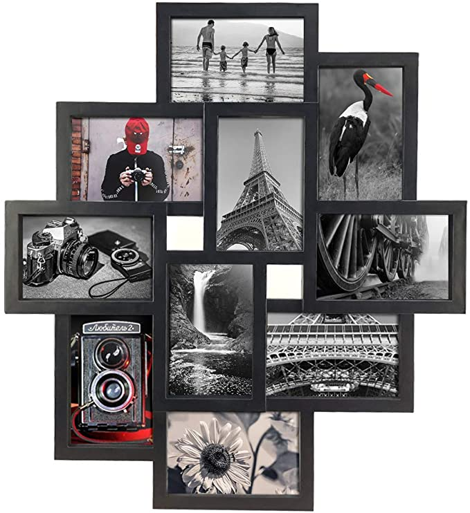 Amazon Com 10 Opening 4x6 Black Collage Picture Frame Wall Hanging For 4 By 6 Inch Multiple In 2020 Picture Frame Wall Hanging Picture Frames Collage Picture Frames