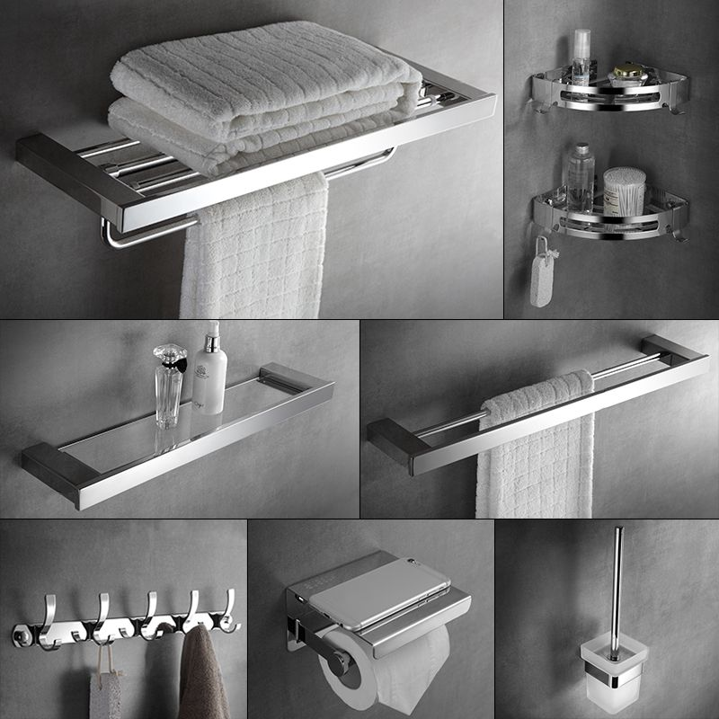 304 Stainless Steel Bathroom Accessories Set Wall Mount Towel Rack Bathroom Stainless Steel Bathroom Accessories Bathroom Accessories Stainless Steel Bathroom
