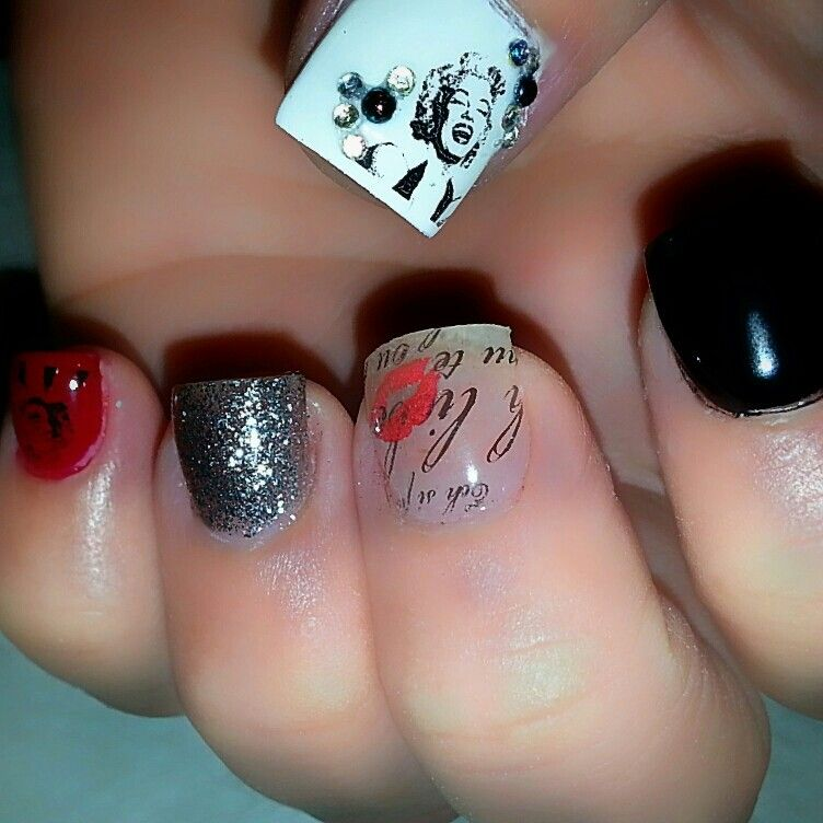 Marilyn Monroe nail design | Kanije Nails | Pinterest | Nail polish ...