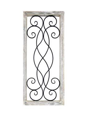 Patton Picture 21 In X 48 In Decorative Metal Wall Decor. Crafted with an intricate metal design, this wall decor by Patton Picture adds a rustic flair to your home decor.