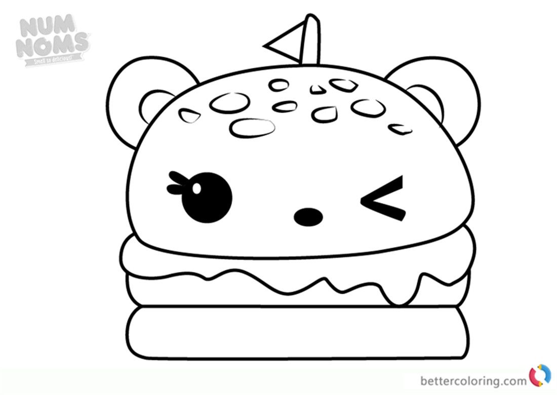 Num Noms Coloring Pages New Cheeseburger Coloring Page
