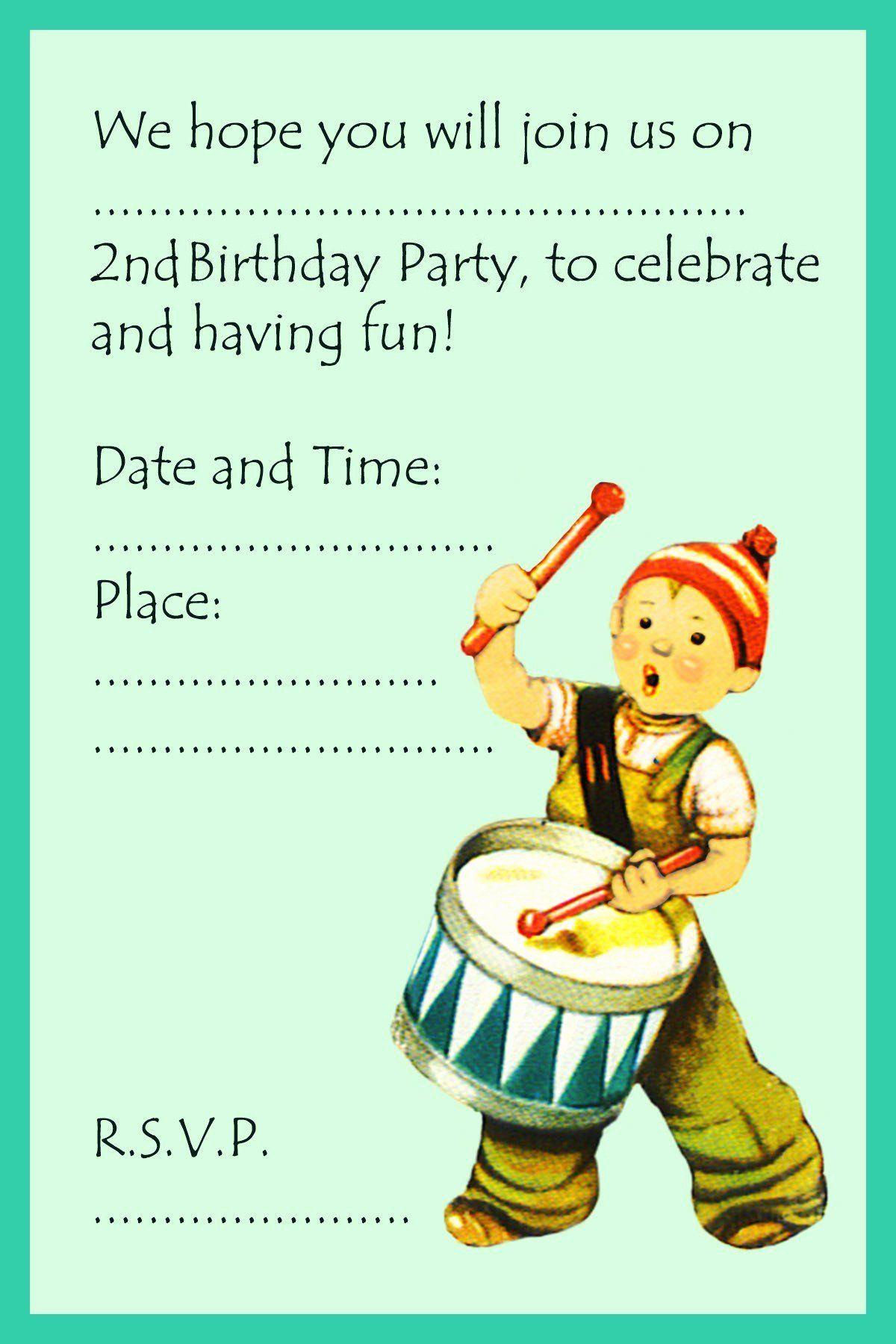 Photo of 2. Geburtstag lädt Formulierung 2 Jahre alte Geburtstagskarte 25 schöne 5 Jahre alte Bi …