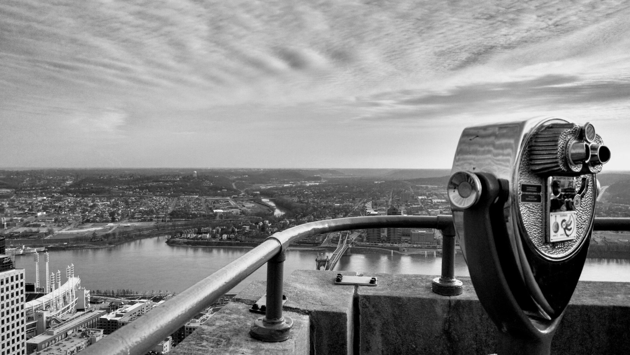 Over looking the Ohio river