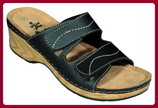 Comfort Line Damen Clogs & Pantoletten, Rot - Marineblau - Größe: 36.5