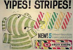 Thought this was so cool when it first came out: Fruit Stripe Gum