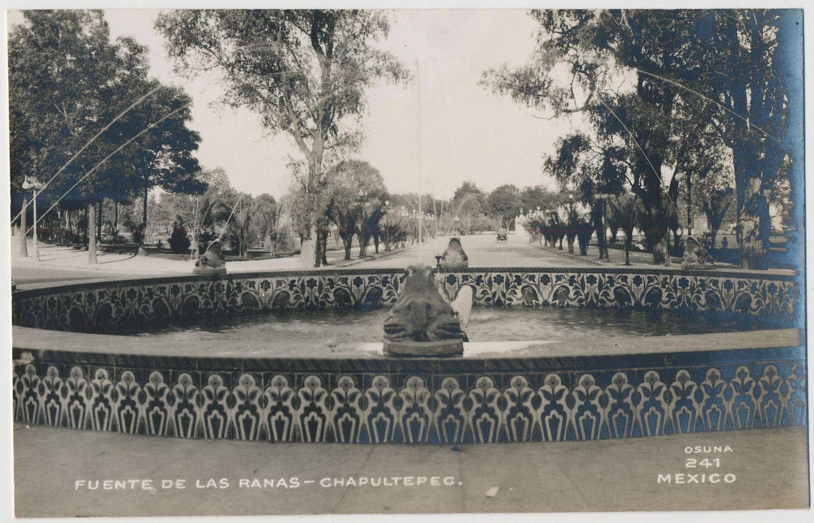 Fuente De Las Ranas En Chapultepec Durante 1921 El Sr Miguel Alessio Robles La Mando Construir En Sevilla España Chapultepec Sevilla España Ranas