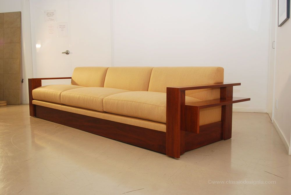 Wood Frame Couch -front