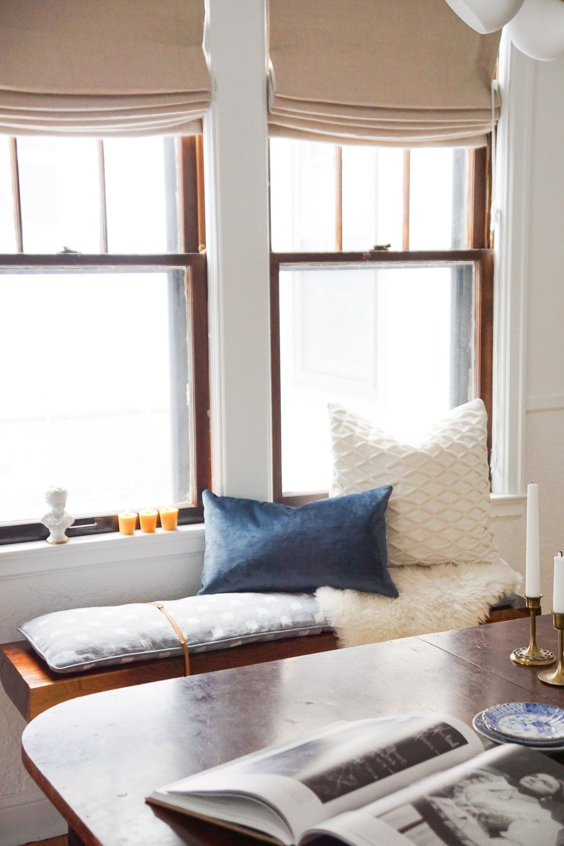 Diy Modern Bench Cushion With Leather Straps Bench Cushions