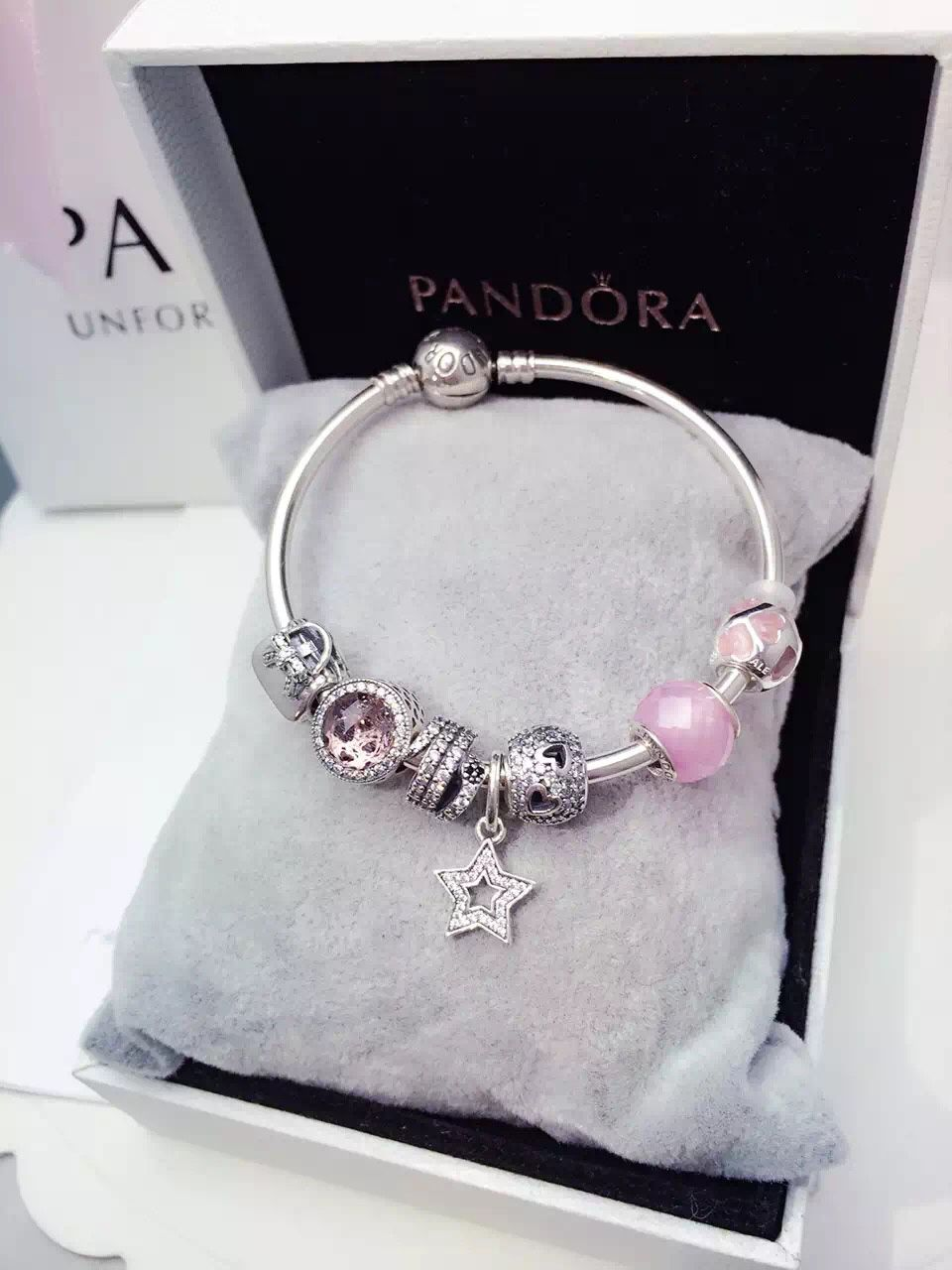 5257cf8a4 $199 Pandora Bangle Charm Bracelet Pink. Hot Sale!!! SKU: CB01808 - PANDORA  Bracelet Ideas