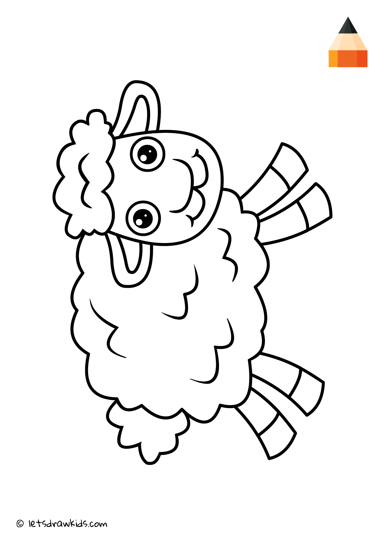 Coloring Page Sheep | Coloring pages | let\'s draw kids | Pinterest ...