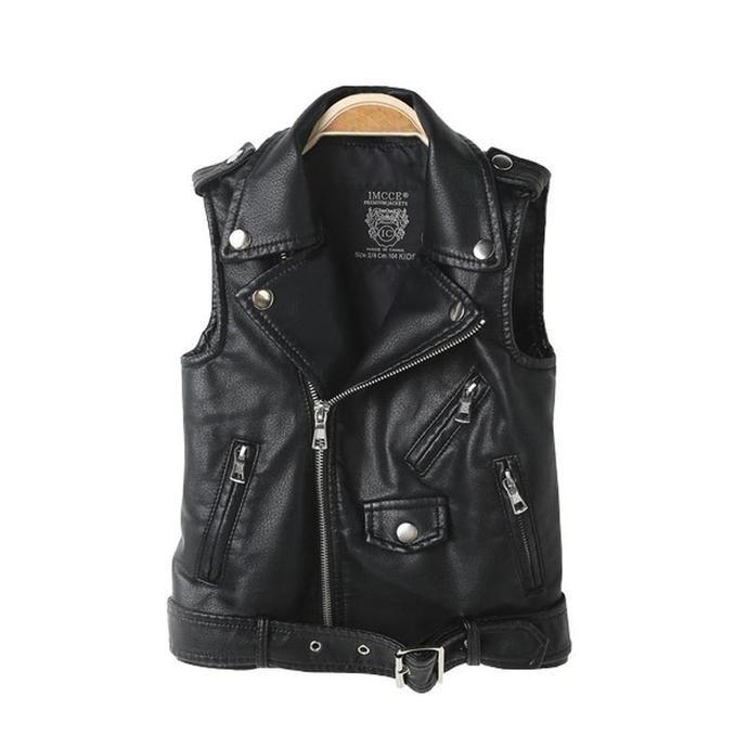 e8464d20b Winter Faux Leather Vest Coat