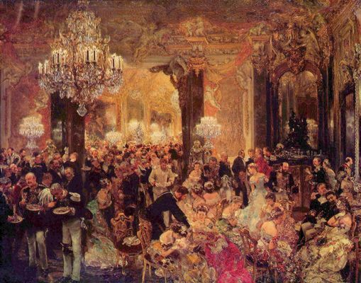 """Das Ballsouper"", 1878, Adolph Menzel, Alte Nationalgalerie, Berlin"