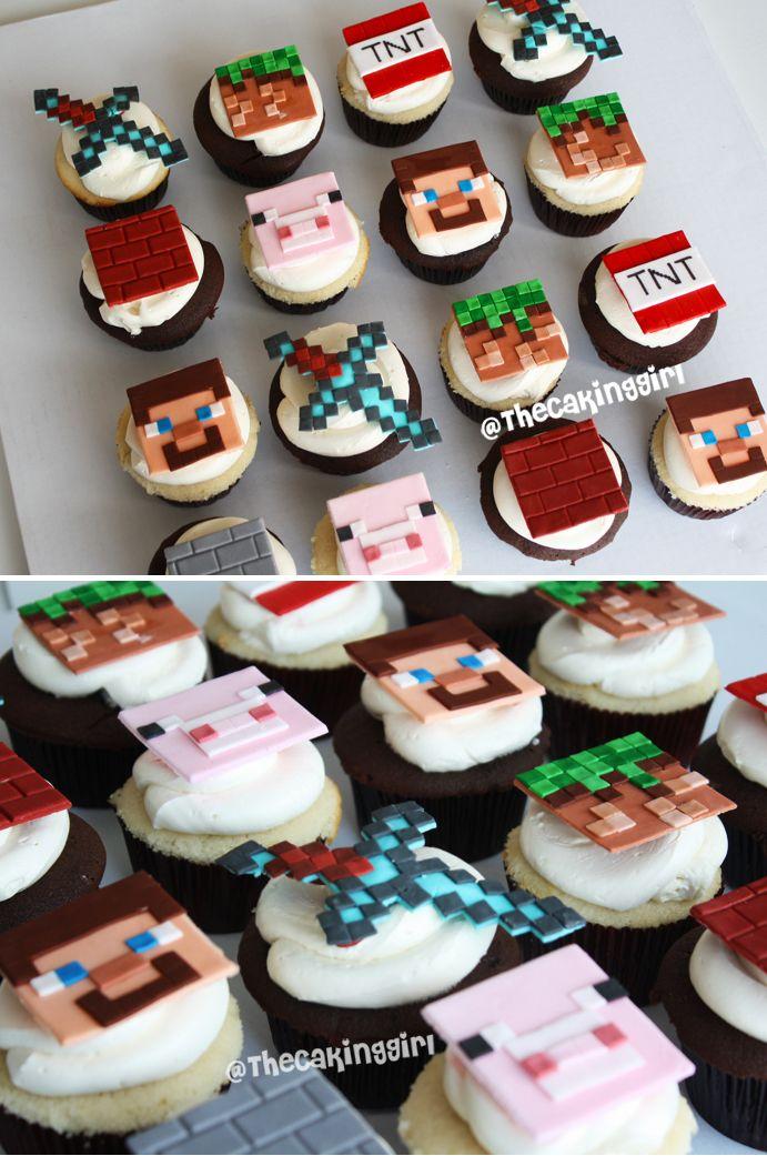 minecraft cupcakes fondant toppers designs s es pinterest. Black Bedroom Furniture Sets. Home Design Ideas