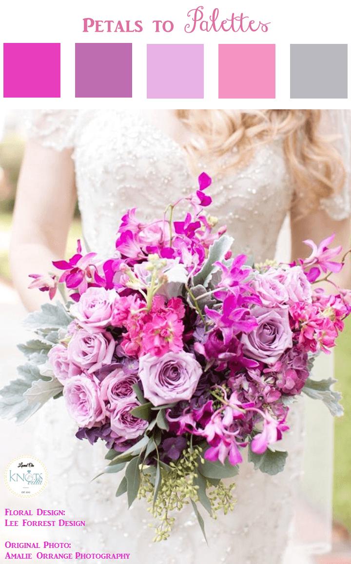 Pink Purple Wedding Bouquet | Purple wedding bouquets, Purple ...