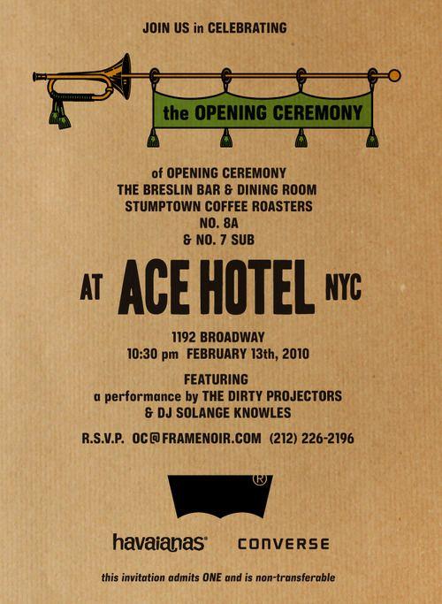 ACE HOTEL TYPE Posters Pinterest Event poster design, Logos - plastik mobe phantastisch