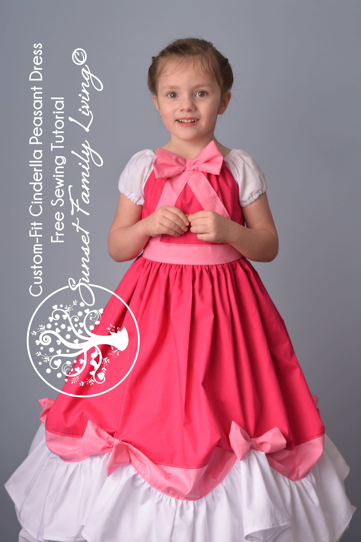 Free Sewing Tutorial | Cinderella Dress | Princess Dress ...