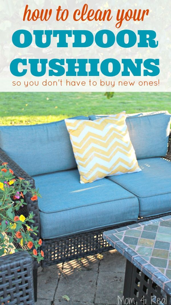 How To Clean Outdoor Cushions And Save Your Money Cleaning