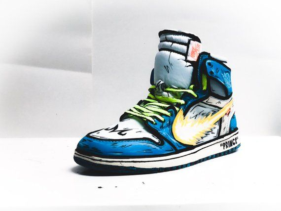 8e0c2b5ee30 VEGETA X GOKU Inspired Off White Jordan 1 in 2019 | Products | White ...