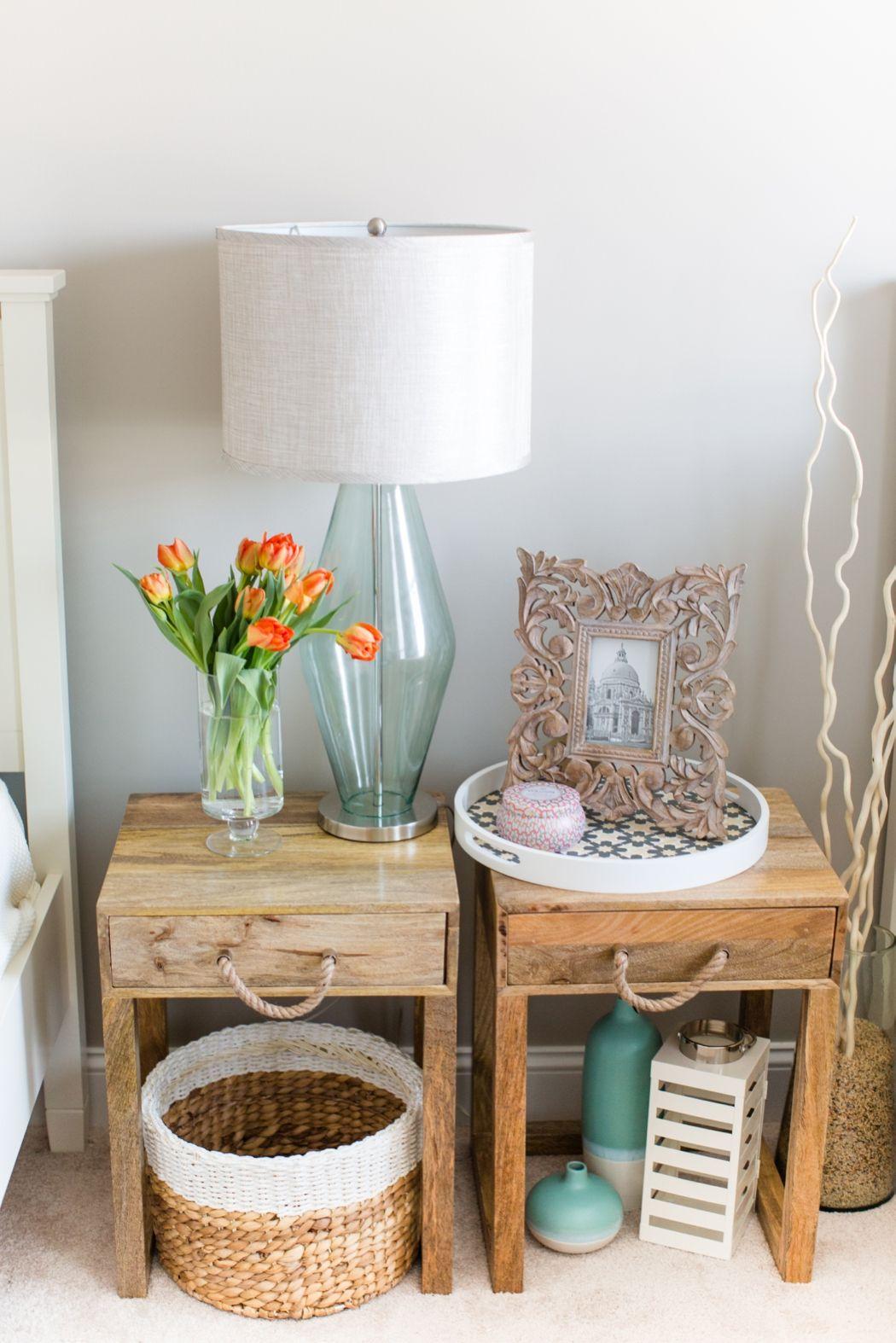 Liz Carroll Interiors Peach and Light Green Bedroom