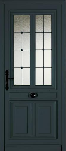 Porte d 39 entr e bois haute isolation vitrage th la - Reglage porte d entree 5 points ...