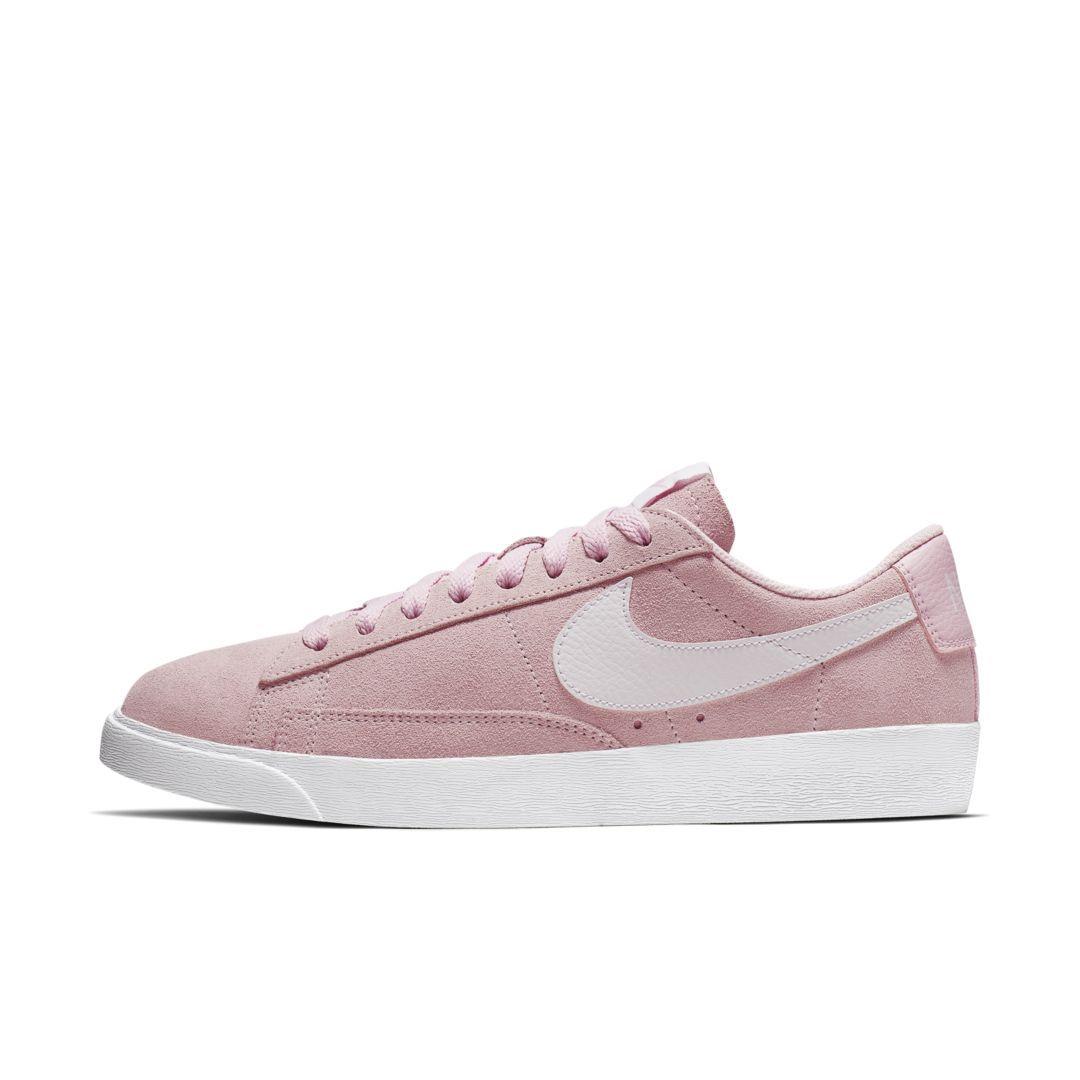 pink nike blazer low