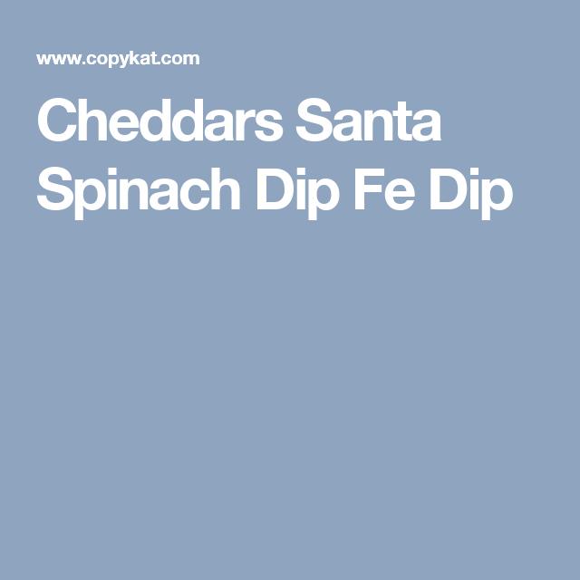 Cheddars Santa Spinach Dip Fe Dip