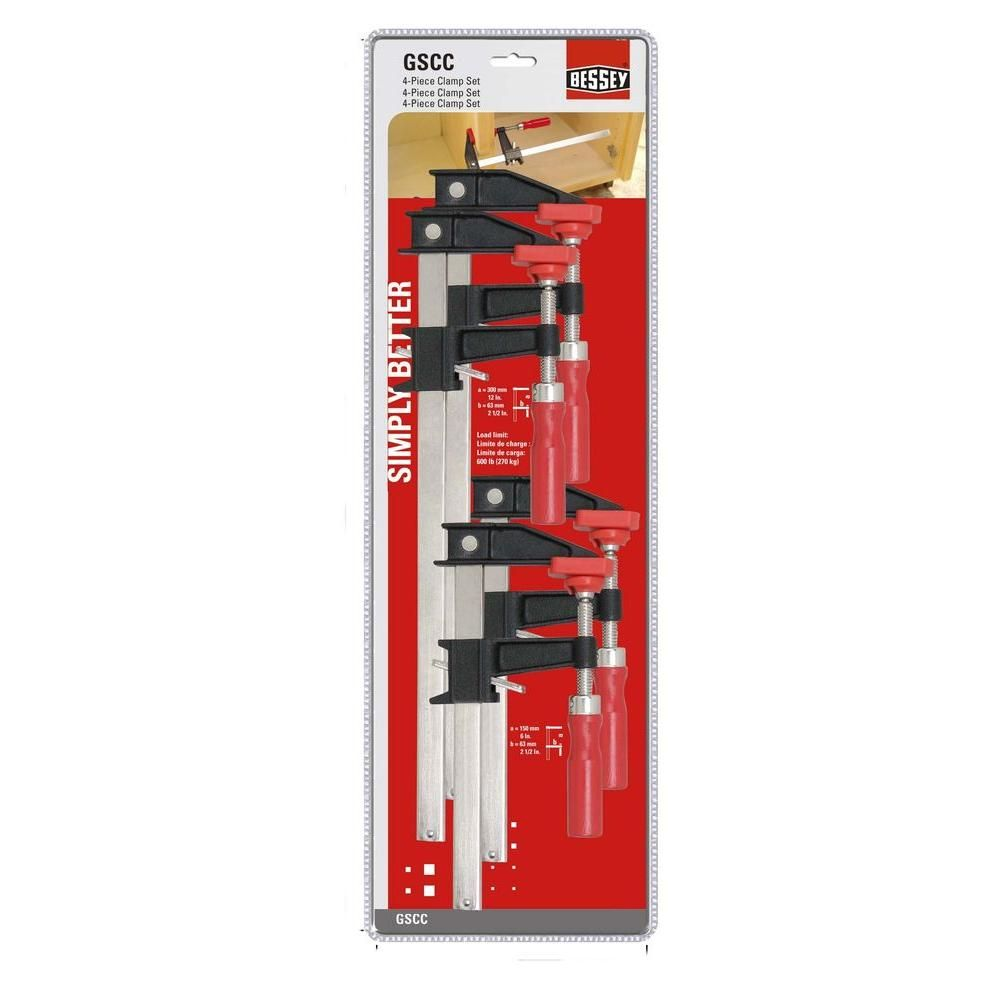 BESSEY Clutch Clamp Set (4-Piece) | Gift