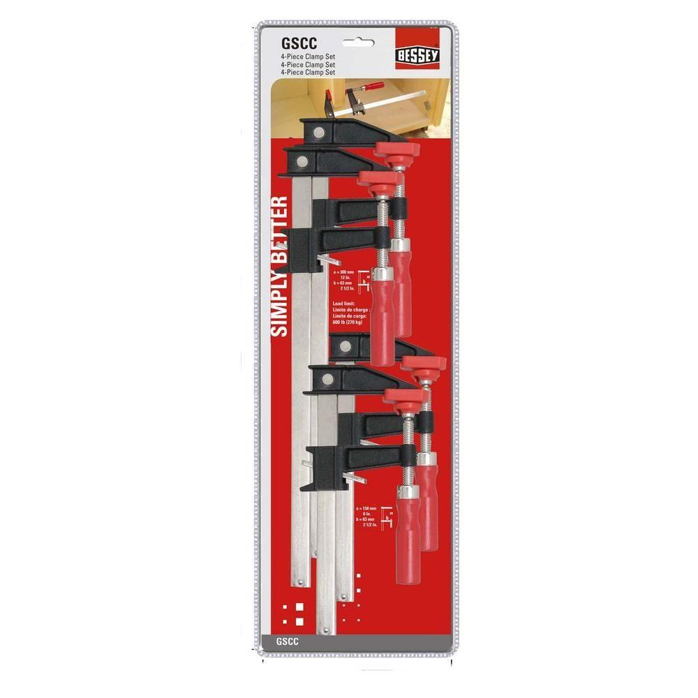 BESSEY Clutch Clamp Set (4-Piece) | Gift