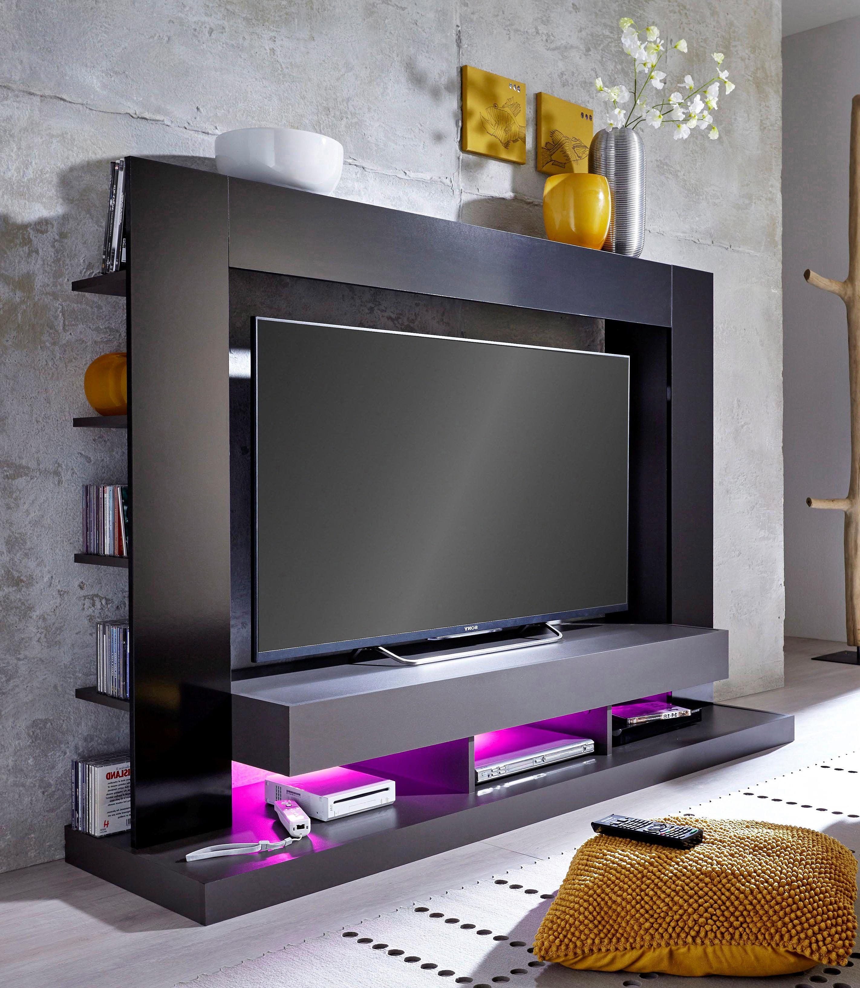 Tv Mediawand mediawand schwarz, pflegeleichte oberfläche, fsc®-zertifiziert