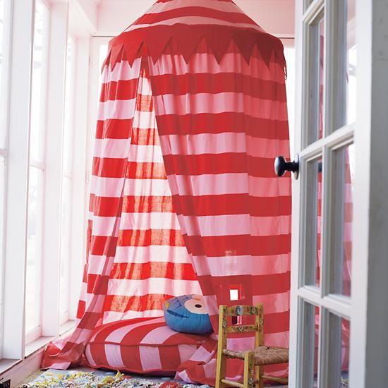 Kids Canopy Pink Striped Play Circus Tent in Playhomes u0026 Tents | The Land of & Kids Canopy: Pink Striped Play Circus Tent in Playhomes u0026 Tents ...