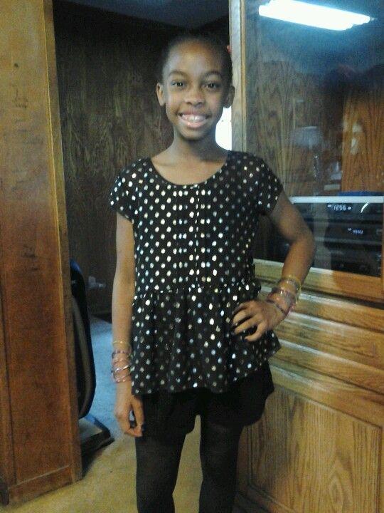 Black & silver polka dot dress