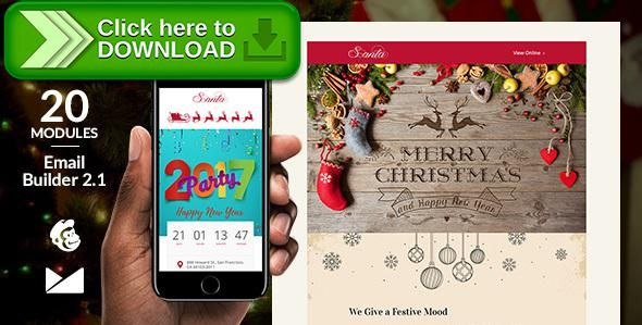 Free nulled Santa Email Template + Online Emailbuilder 21 download - new marketing agency blueprint free download