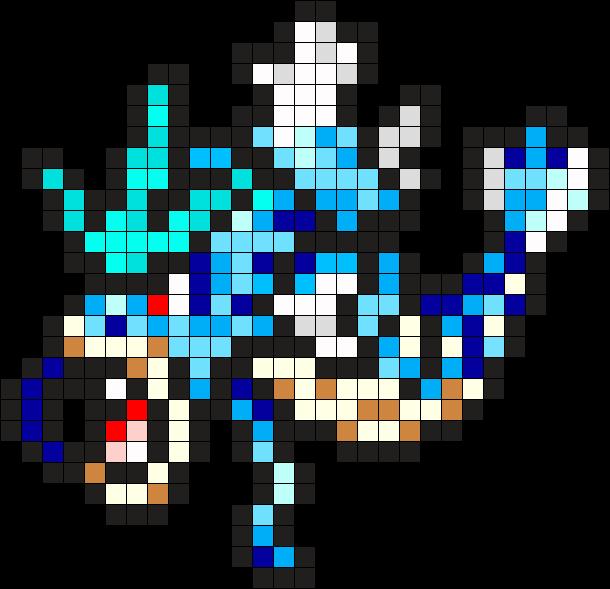 Gyarados Pokemon Bead Pattern Perler -  9.1KB