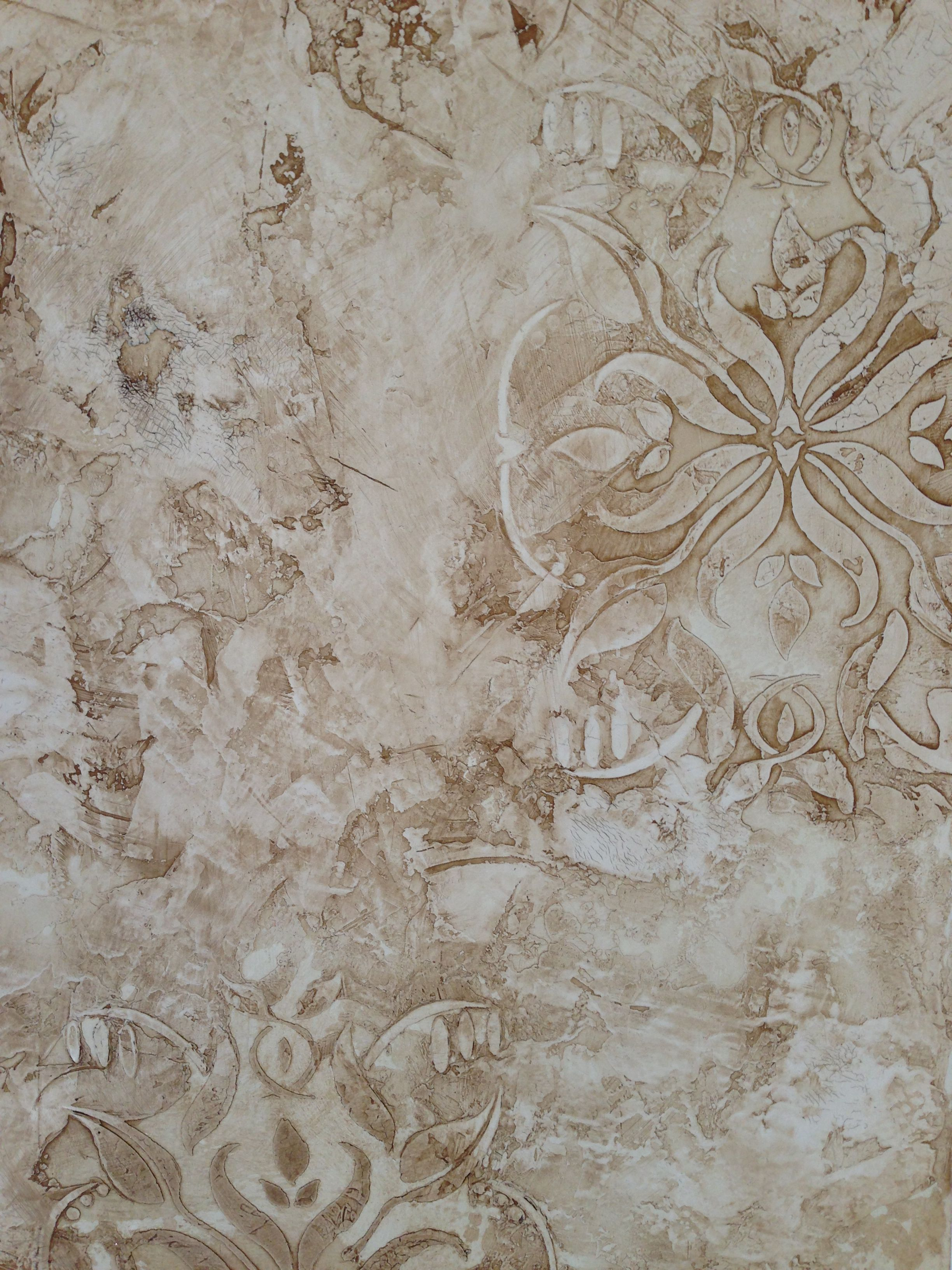 Venetian plaster finish with embedded stencil designs decorative venetian plaster finish with embedded stencil designs amipublicfo Gallery