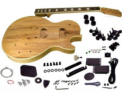 Solo Lp Style Spalted Maple Top Diy Guitar Kit Guitar Kits Guitar Building Diy Electric Guitar