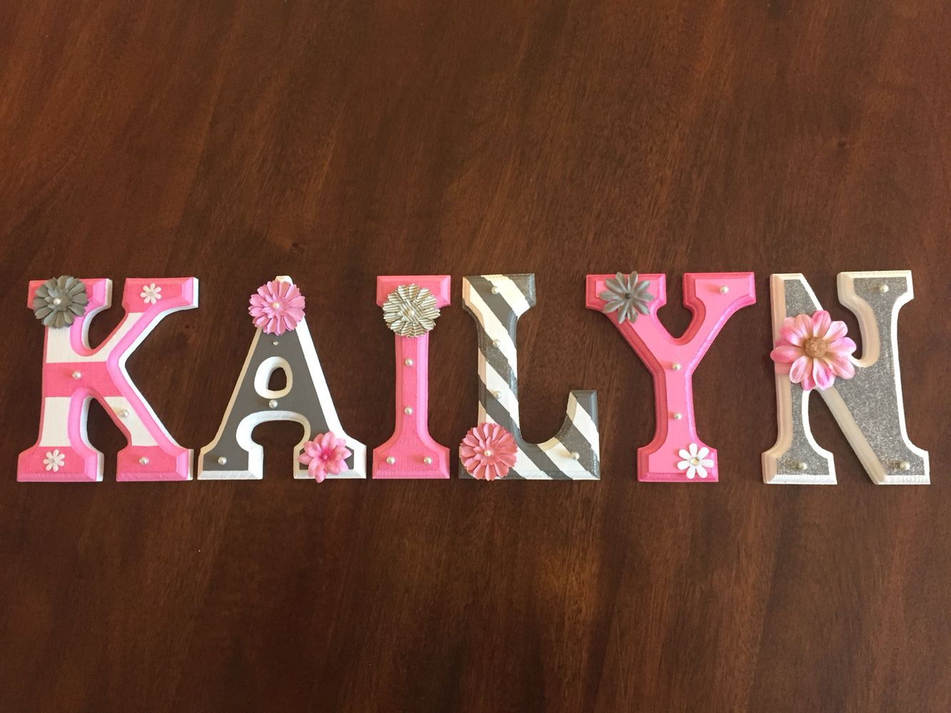 Letters Painted For Our Baby Girl Love Diy Projects Painting