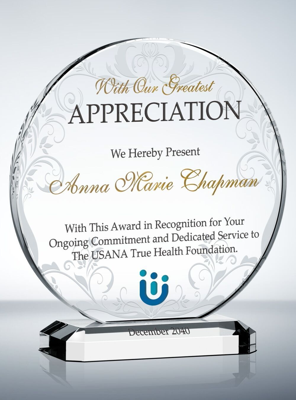 Custom Circular Crystal Appreciation Award Thank You Teacher Gifts Teacher Appreciation Gifts Employee Appreciation Gifts