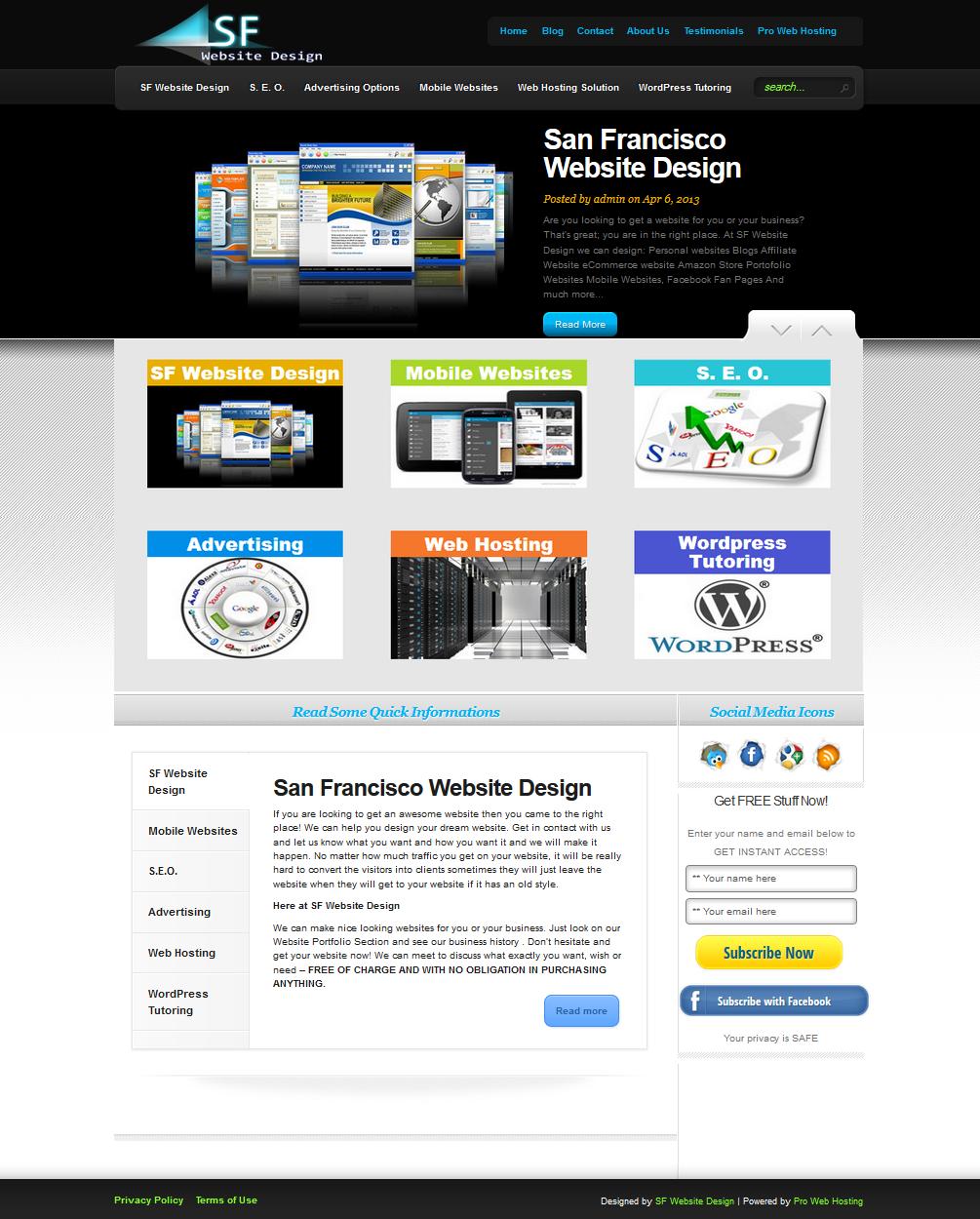 Sf Website Design Design By Http Sfwebsitedesign Net Website Design Free Web Design Web Design Company