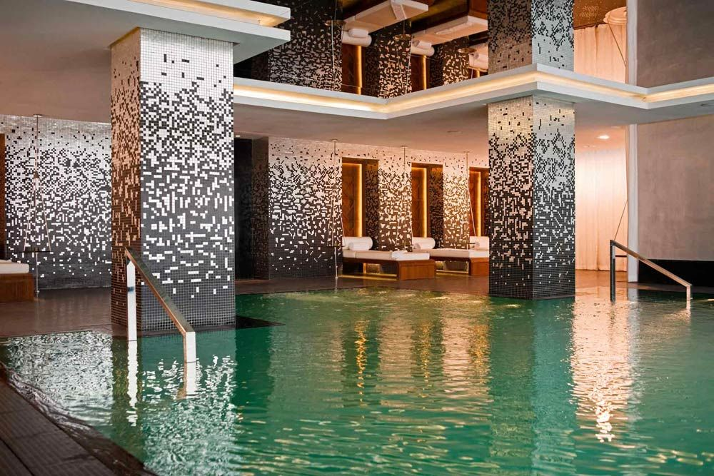 Indoor Pool In The Spa At Sofitel Casablanca Tour Blanche In