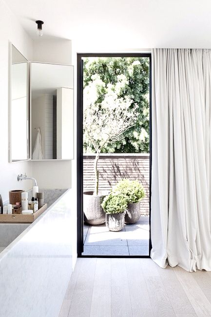 Bathroom with view.