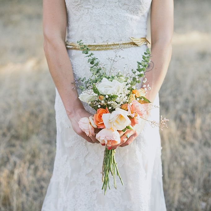 Posy Wedding Bouquets Romantic DIY With Garden Roses Magnolia And Mixed Greenery