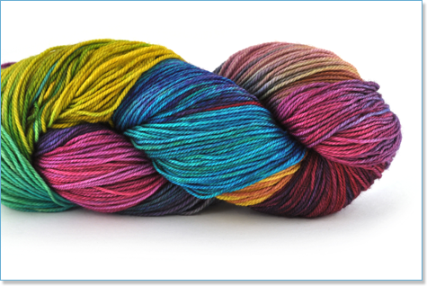 "Handmaiden Fine yarn Casbah Sock ""Hibiscus"""