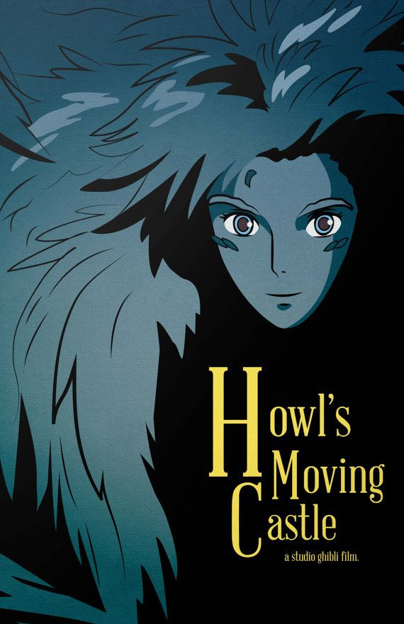 Howl's Moving Castle Film Poster by loniwdesigns