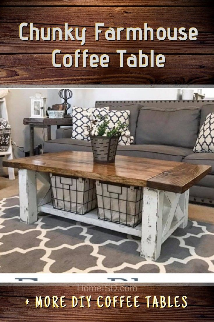 40 Easy DIY Coffee Table Ideas You Can Build on a Budget ...