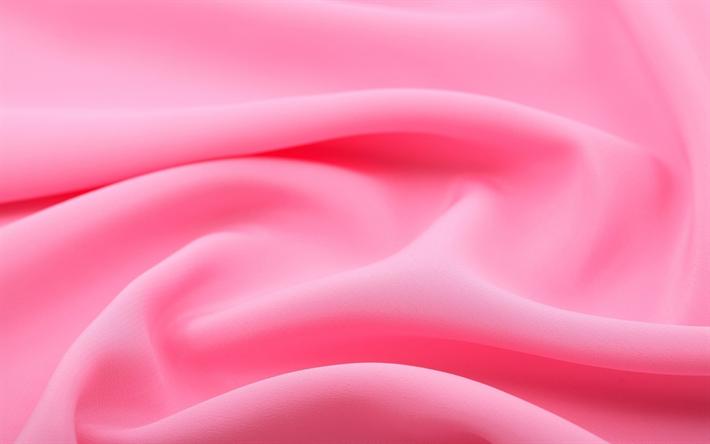 Download wallpapers pink silk, fabric, silk texture, silk | Other ...