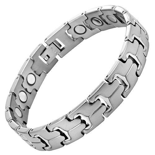 Willis Judd New Ladies Love Heart Titanium Magnetic Bracelet In Free Black Velvet Gift Tool + Free Link Removal Tool VoLhAKTDTT