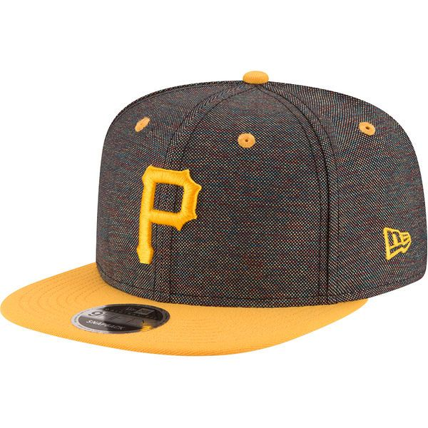 Men's New Era Black Pittsburgh Pirates Vivid Crowner Snapback Hat