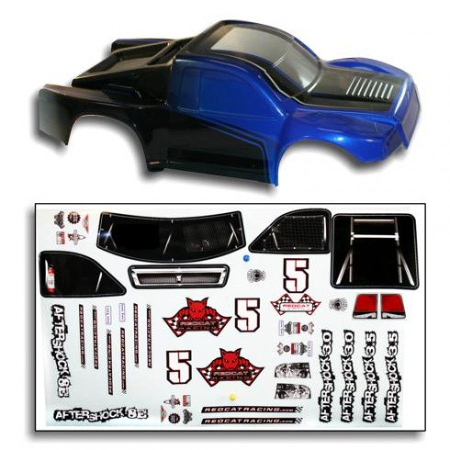 alpha-grp.co.jp Black/Blue Redcat Racing Truck Body for Sumo RC ...
