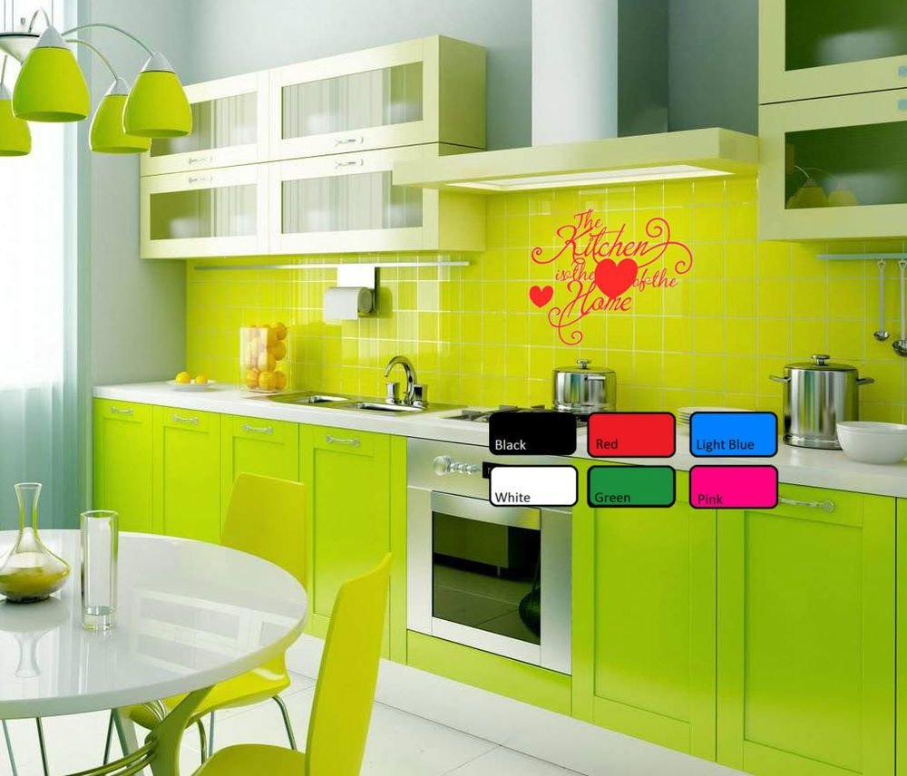The Kitchen Is The Love of Home Wall Sticker Vinyl Art Decor Living ...