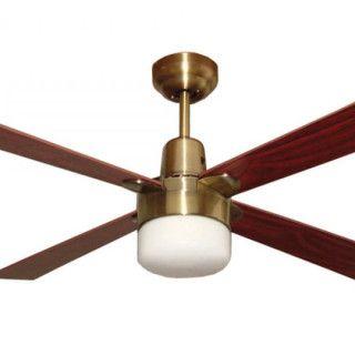 Alpha Ceiling Fan With Light Antique Brass 48 Fan Light Ceiling Fan Antique Ceiling Fans
